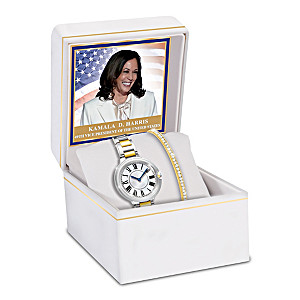 Watch And Bracelet Set Inspired By Kamala Harris's Jewelry