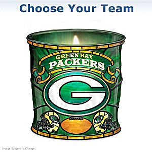 NFL Stained-Glass Candleholder: Choose Your Team