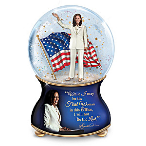 Kamala Harris Musical Glitter Globe With A Memorable Quote