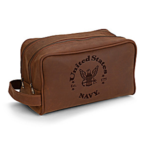 U.S. Navy Traveling Toiletry Bag With Embossed Emblem