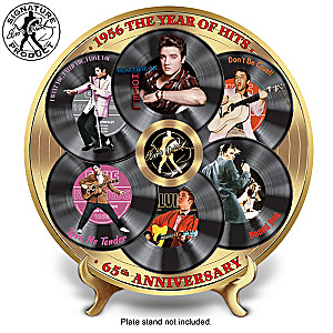 """""""Elvis 1956 The Year Of Hits"""" Porcelain Collector Plate"""