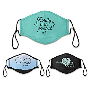"""3 """"Family Is Love"""" Antibacterial Adult Face Masks"""