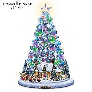 """Santa's Night Before Christmas"" Illuminated Christmas Tree"