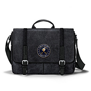 """""""These Colors Don't Run"""" Canvas Messenger Bag"""