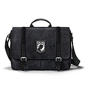 POW Never Forgotten Canvas Messenger Bag With Applique Patch