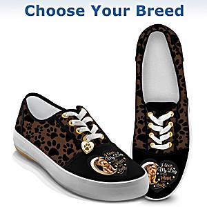 I Love My Dog To The Moon And Back Sneakers: Choose A Breed