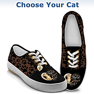 I Love My Cat To The Moon And Back Sneakers: Choose Your Cat