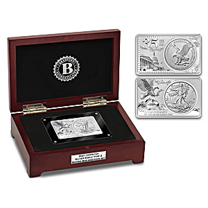 2021 American Silver Eagle Type 2 Minted Bar And Coin Set