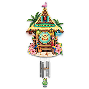 Tiki Bar Wall Clock With Lights, Motion and Sound