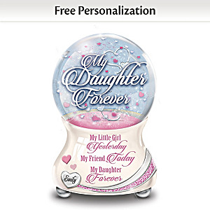My Daughter So Loved Personalized Porcelain Glitter Globe