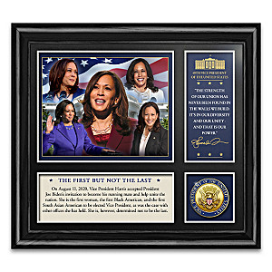 Vice President Harris Framed Commemorative With Medallion