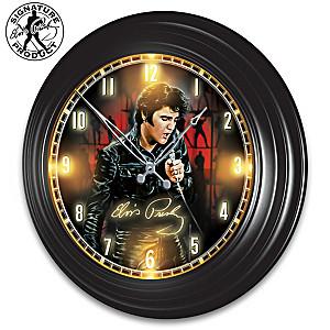 Elvis Presley Indoor/Outdoor Illuminated Atomic Wall Clock