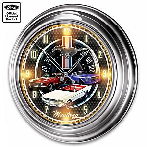 Ford Mustang Illuminated Atomic Wall Clock