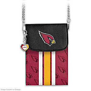 Cardinals Crossbody Cell Phone Bag With Logo Charm