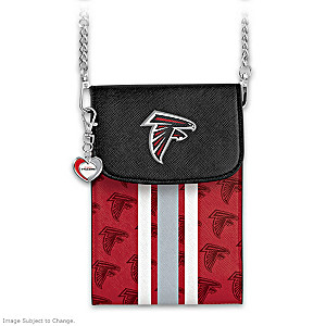 Falcons Crossbody Cell Phone Bag With Logo Charm