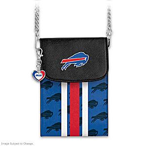 Bills Crossbody Cell Phone Bag With Logo Charm
