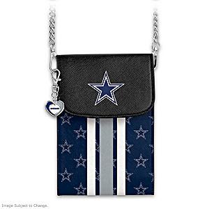 Cowboys Crossbody Cell Phone Bag With Logo Charm