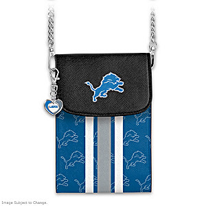 Lions Crossbody Cell Phone Bag With Logo Charm