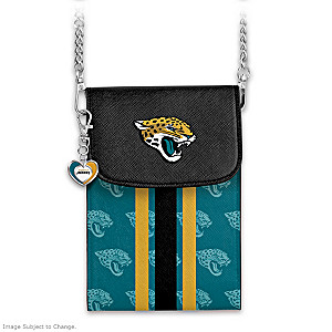 Jaguars Crossbody Cell Phone Bag With Logo Charm