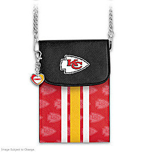 Chiefs Crossbody Cell Phone Bag With Logo Charm