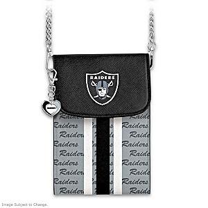 Raiders Crossbody Cell Phone Bag With Logo Charm