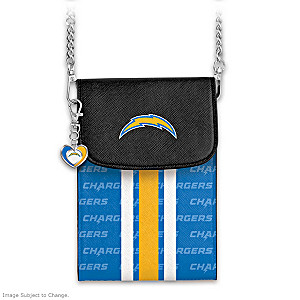 Chargers Crossbody Cell Phone Bag With Logo Charm