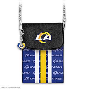 Rams Crossbody Cell Phone Bag With Logo Charm