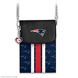 Patriots Crossbody Cell Phone Bag With Logo Charm