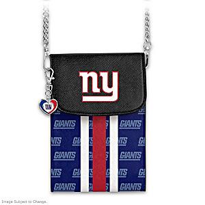 Giants Crossbody Cell Phone Bag With Logo Charm