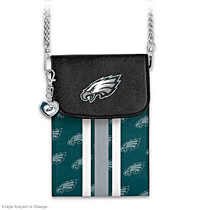 Eagles Crossbody Cell Phone Bag With Logo Charm