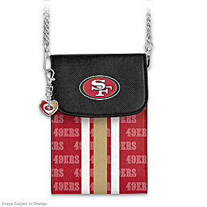 49ers Crossbody Cell Phone Bag With Logo Charm