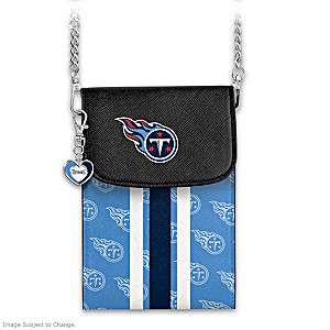 Titans Crossbody Cell Phone Bag With Logo Charm
