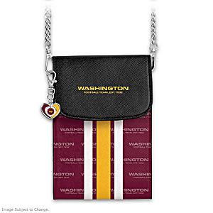 Washington Football Crossbody Cell Phone Bag With Logo Charm