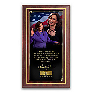 """Madam Vice President"" Wall Decor With Her Quote"