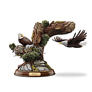 """Soaring Guardian"" Levitating Eagle Sculpture"