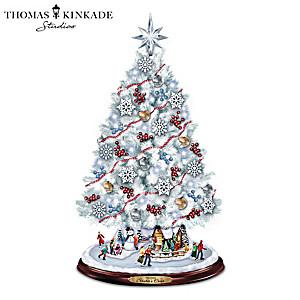"Thomas Kinkade ""Skater's Creek"" Illuminated Christmas Tree"