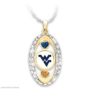 For The Love Of The Game West Virginia Mountaineers Pendant