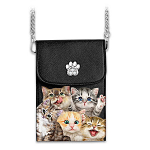 """Kayomi Harai """"Cats With Purr-sonality"""" Cell Phone Bag"""