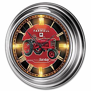 Farmall Illuminated Indoor/Outdoor Atomic Wall Clock