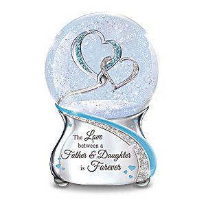 The Love Between A Father And Daughter Musical Glitter Globe