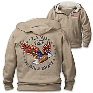 """""""Land Of The Free"""" Cotton-Blend Men's Hoodie"""