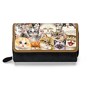 """Kayomi Harai """"Cats With Purr-sonality"""" Trifold Wallet"""