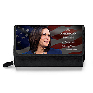 Kamala Harris Trifold Wallet With Inspirational Quote