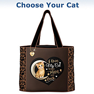 """""""I Love My Cat To The Moon And Back"""" Tote: Choose Your Cat"""