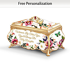 Daughter, Wherever Life Takes You Personalized Music Box