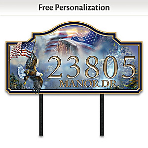 """Ted Blaylock """"Spirit Of America"""" Personalized Address Sign"""