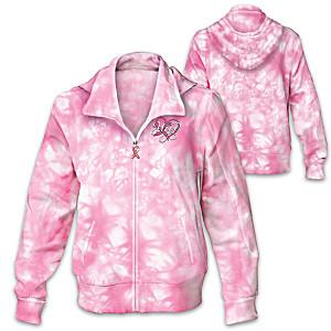 Breast Cancer Awareness Tie Dye Women's Hoodie