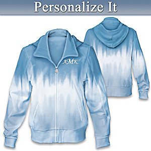 Tie-Dye Women's Hoodie With Embroidered Monogram