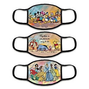 """3 """"Masterpiece Of Magic"""" Face Masks With Character Artwork"""