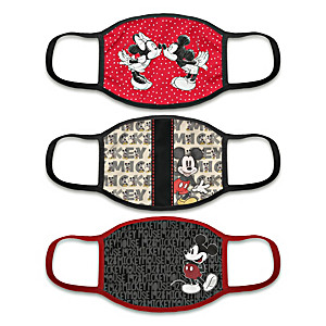 """3 """"Iconic Mickey Mouse"""" Face Masks With Character Artwork"""